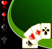 Vector play card background Royalty Free Stock Photos