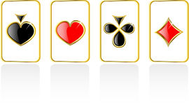 Vector play card set Royalty Free Stock Photo
