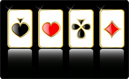 Vector play card set Royalty Free Stock Photos