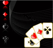 Vector play card set Royalty Free Stock Images