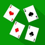Playing Card Suit Icon Symbol Set Royalty Free Stock Images