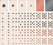 Vector playing cards- 1 to 10 Stock Photos