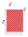 Vector playing cards royalty free illustration