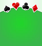 Vector playing cards background Royalty Free Stock Images