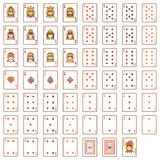 Vector playing cards set Stock Images