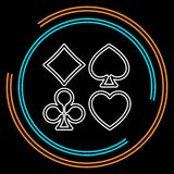 Vector playing cards symbols royalty free illustration