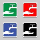 Vector please wash your hands sign (please wash your hands icon, please wash your hands symbol, please wash your hands label) Royalty Free Stock Photos