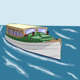 Vector pleasure boat Royalty Free Stock Image