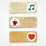 Pleasure cards Royalty Free Stock Photos