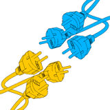 Vector plug in Royalty Free Stock Photo