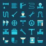 Vector plumbing icons Stock Image