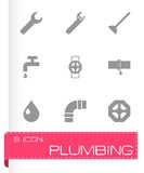 Vector plumbing icons set Royalty Free Stock Images