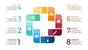 Vector plus infographic, medical diagram, healthcare graph, hospital presentation, emergency chart. Medicine doctor logo Royalty Free Stock Image