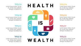 Vector plus infographic, medical diagram, healthcare graph, hospital presentation, emergency chart. Medicine doctor logo Stock Photos