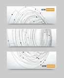 Vector point and line black vector card. Royalty Free Stock Photo