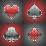 Vector Poker Cards Royalty Free Stock Images