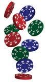 Vector Poker Chips Stock Photos