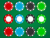 Vector Poker Chips Stock Photography