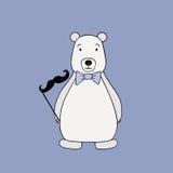 Vector polar bear. Cartoon illustration Royalty Free Stock Photography