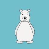 Vector polar bear . Cartoon illustration Royalty Free Stock Image
