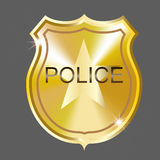 Vector Police Badge. Vector golden  police badge. Illustration. Gradient mesh Royalty Free Stock Photos