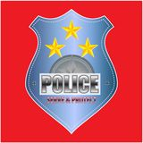 Vector Police Badge isolated Stock Photos