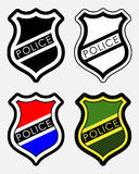 Vector Police Badges Isolated Illustration Stock Images