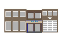 Vector police building Royalty Free Stock Images