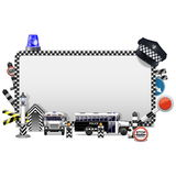 Vector Police Frame Royalty Free Stock Image