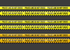 Vector Police line do not cross tape Royalty Free Stock Photos