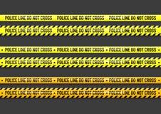 Vector Police line do not cross tape. Design Royalty Free Stock Photos