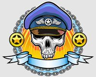 Vector police skull Royalty Free Stock Photos
