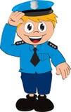 Vector Policeman cartoon royalty free stock image