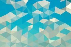 Vector poligonal bajo del fondo del gris azul ilustración del vector