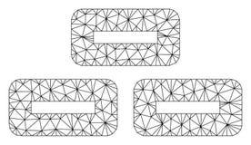 Vector poligonal Mesh Illustration del marco de los ladrillos ilustración del vector