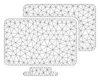 Vector poligonal Mesh Illustration del marco de los ordenadores stock de ilustración