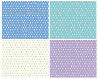 Vector polka dots seamless colorful patterns, blur Stock Image