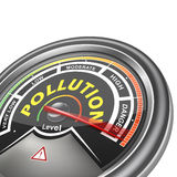 Vector pollution conceptual meter indicator Stock Image