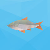 Vector poly fish Stock Photography