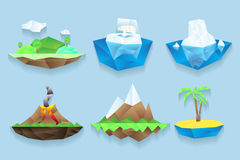 Vector poly islands set Stock Photography