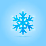 Vector poly snowflake Royalty Free Stock Images