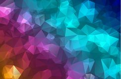 Vector Polygon Abstract Modern Polygonal Geometric Triangle Background. Colorful Geometric Triangle Background. Royalty Free Stock Photo