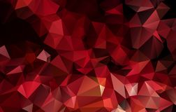 Vector Polygon Abstract modern Polygonal Geometric Triangle Background. Red color stock illustration