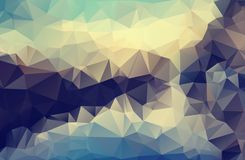 Vector Polygon Abstract Polygonal Geometric Triangle Background. Abstract dark multicolor polygonal background. abstract Gray back stock illustration