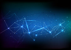 Vector polygon background abstract technology communication data Royalty Free Stock Photography