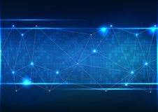 Vector polygon background abstract technology communication data Stock Photos