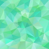 Vector polygon background with irregular tessellations pattern - triangular design in fresh spring colors. Pastel green Royalty Free Stock Photo