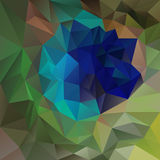 Vector polygon background with irregular tessellations pattern - triangular design in peacock plume colors Royalty Free Stock Image