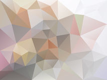 Vector polygon background with a triangle pattern in light pastel gray, pink and beige color Royalty Free Stock Photo