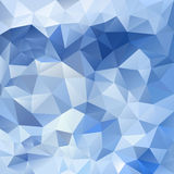 Vector polygon background triangular pattern in ice blue colors Royalty Free Stock Photos